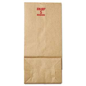 GENERAL SUPPLY #5 Paper Grocery, 50lb Kraft, Extra-Heavy-Duty 5 1/4x3 7/16 x10 15/16, 500 bags