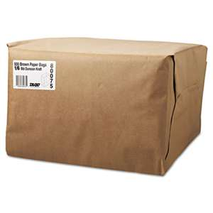GENERAL SUPPLY 1/6 BBL Paper Grocery Bag, 52lb Kraft, Standard 12 x 7 x 17, 500 bags