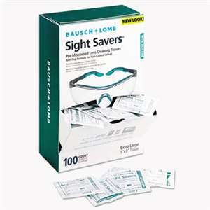 BAUSCH & LOMB, INC. Sight Savers Pre-Moistened Anti-Fog Tissues with Silicone, 100/Pack