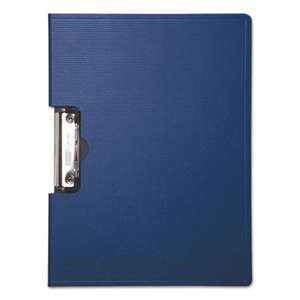 "BAUMGARTENS Portfolio Clipboard With Low-Profile Clip, 1/2"" Capacity, 11 x 8 1/2, Blue"