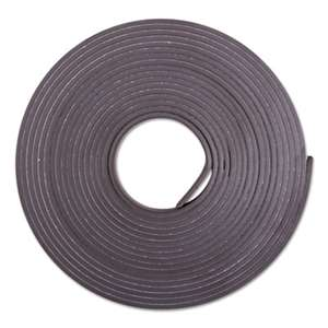 "BAUMGARTENS Adhesive-Backed Magnetic Tape, Black, 1/2"" x 10ft, Roll"