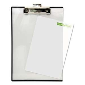 "BAUMGARTENS Quick Reference Clipboard, 1/2"" Capacity, 8 1/2 x 11, Clear"