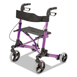 "BRIGGS HEALTHCARE Gateway Aluminum Rollator, Purple, 31""-36""H, 300 lb Capacity"