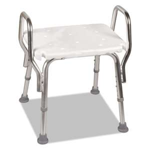 "BRIGGS HEALTHCARE Shower Chair, 16-20""H, 19 x 13 Seat, 350 lb Capacity"