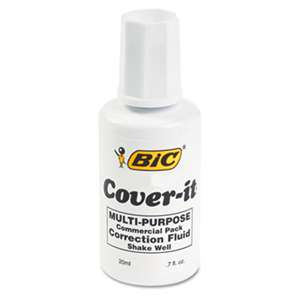BIC CORP. Cover-It Correction Fluid, 20 ml Bottle, White