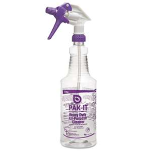 CLEANER SOLUTIONS Color-Coded Trigger-Spray Bottle, 32 oz, Purple: Heavy-Duty All Purpose Cleaner