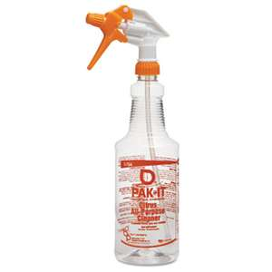 CLEANER SOLUTIONS Color-Coded Trigger-Spray Bottle, 32 oz, Orange: Citrus All-Purpose Cleaner