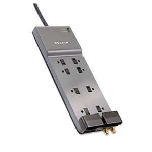 Belkin BE10823006 Office Series SurgeMaster Surge Protector, 8 Outlets, 6 ft Cord, 3390 Joules