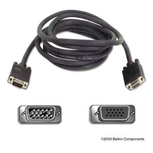 BELKIN COMPONENTS Pro Series SVGA Monitor Extension Cable, HD-15, 10 ft., Black