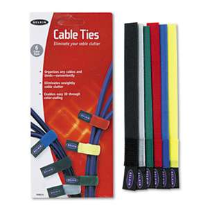 BELKIN COMPONENTS Multicolored Cable Ties, 6/Pack