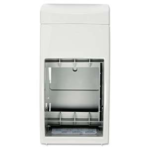 BOBRICK WASHROOM Matrix Series Two-Roll Tissue Dispenser, 6 1/4w x 6 7/8d x 13 1/2h, Gray