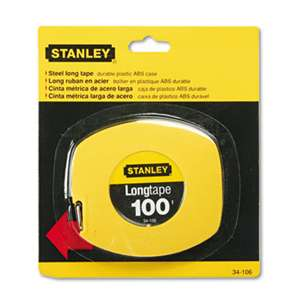"STANLEY BOSTITCH Long Tape Measure, 1/8"" Graduations, 100ft, Yellow"