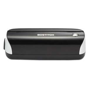 STANLEY BOSTITCH 12-Sheet Electric Three-Hole Punch, Black