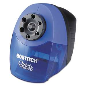 STANLEY BOSTITCH QuietSharp 6 Classroom Electric Pencil Sharpener, Blue