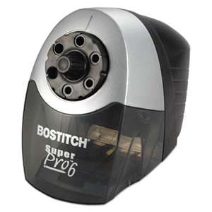 STANLEY BOSTITCH Super Pro 6 Commercial Electric Pencil Sharpener, Gray/Black