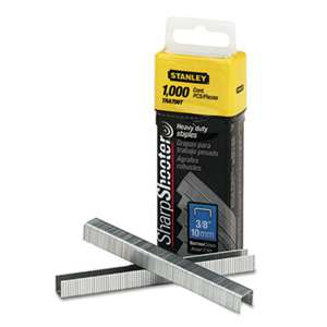 "STANLEY BOSTITCH SharpShooter Heavy-Duty Tacker Staples, 3/8"" Leg Length, 1000/Box"