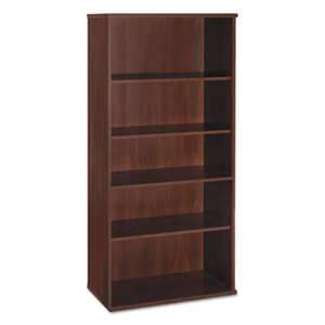 BUSH INDUSTRIES Series C Collection 36W 5 Shelf Bookcase, Hansen Cherry
