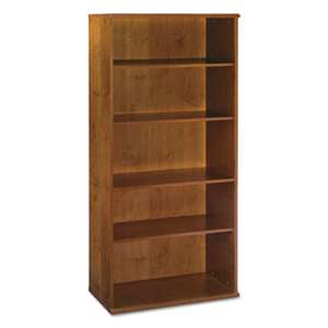 BUSH INDUSTRIES Series C Collection 36W 5 Shelf Bookcase, Natural Cherry