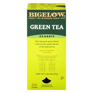 BIGELOW TEA CO. Single Flavor Tea, Green, 28 Bags/Box