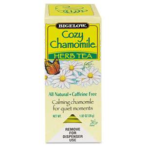 BIGELOW TEA CO. Single Flavor Tea, Cozy Chamomile, 28 Bags/Box