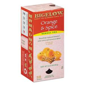 BIGELOW TEA CO. Orange and Spice Herbal Tea, 28/Box