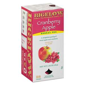 BIGELOW TEA CO. Cranberry Apple Herbal Tea, 28/Box