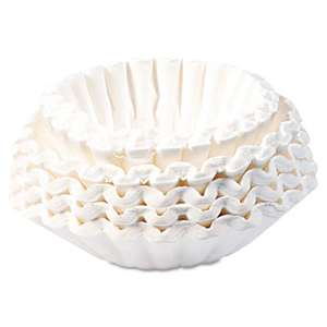BUNN-O-MATIC Flat Bottom Coffee Filters, 12-Cup Size, 250/Pack
