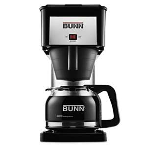BUNN-O-MATIC 10-Cup Velocity Brew BX Coffee Brewer, Black, Stainless Steel