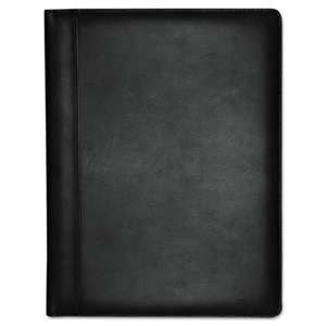 BUXTON COMPANY Executive Leather Padfolio, 9-1/2 x 12-1/2, Black