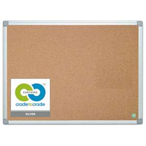 BI-SILQUE VISUAL COMMUNICATION PRODUCTS INC Earth Cork Board, 36 x 48, Aluminum Frame