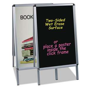 BI-SILQUE VISUAL COMMUNICATION PRODUCTS INC Wet Erase Board, 27x34, Black, Aluminum Frame