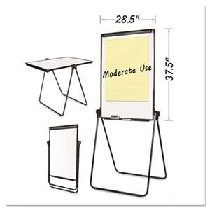 BI-SILQUE VISUAL COMMUNICATION PRODUCTS INC Folds-to-a-Table Melamine Easel, 28 1/2 x 37 1/2, White, Steel/Laminate