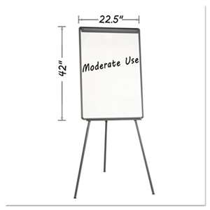 BI-SILQUE VISUAL COMMUNICATION PRODUCTS INC Basic Tripod Melamine Presentation Easel, 22 1/2 x 42, White/Black