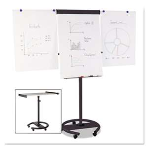 BI-SILQUE VISUAL COMMUNICATION PRODUCTS INC 360 Multi-Use Mobile Magnetic Dry Erase Easel, 27 x 41, Black Frame