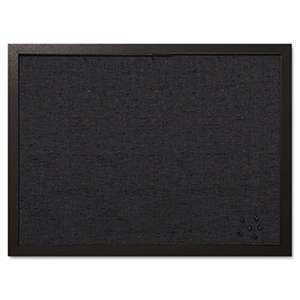 BI-SILQUE VISUAL COMMUNICATION PRODUCTS INC Designer Fabric Bulletin Board, 24X18, Black Fabric/Black Frame