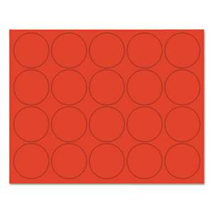 "BI-SILQUE VISUAL COMMUNICATION PRODUCTS INC Interchangeable Magnetic Characters, Circles, Red, 3/4"" Dia., 20/Pack"