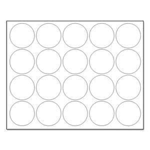 "BI-SILQUE VISUAL COMMUNICATION PRODUCTS INC Interchangeable Magnetic Characters, Circles, White, 3/4"" Dia., 20/Pack"