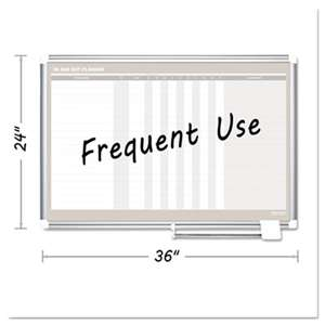BI-SILQUE VISUAL COMMUNICATION PRODUCTS INC In-Out Magnetic Dry Erase Board, 36x24, Silver Frame