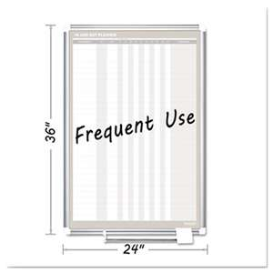 BI-SILQUE VISUAL COMMUNICATION PRODUCTS INC In-Out Magnetic Dry Erase Board, 24x36, Silver Frame