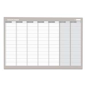 BI-SILQUE VISUAL COMMUNICATION PRODUCTS INC Weekly Planner, 36x24, Aluminum Frame