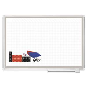 BI-SILQUE VISUAL COMMUNICATION PRODUCTS INC All-Purpose Planning Board w/Accessories, 1x1 Grid, 48x36, Aluminum Frame