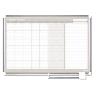 BI-SILQUE VISUAL COMMUNICATION PRODUCTS INC Monthly Planner, 48x36, Silver Frame