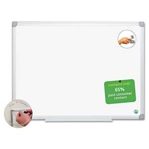 BI-SILQUE VISUAL COMMUNICATION PRODUCTS INC Earth Easy-Clean Dry Erase Board, White/Silver, 18x24
