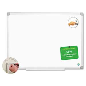 BI-SILQUE VISUAL COMMUNICATION PRODUCTS INC Earth Easy-Clean Dry Erase Board, White/Silver, 24x36