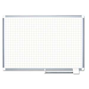 "BI-SILQUE VISUAL COMMUNICATION PRODUCTS INC Planning Board, 1"" Grid, 48x36, White/Silver"