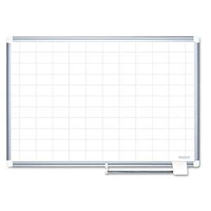 BI-SILQUE VISUAL COMMUNICATION PRODUCTS INC Grid Planning Board, 2x3 Grid, 72x48, White/Silver