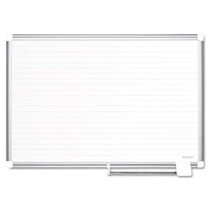 BI-SILQUE VISUAL COMMUNICATION PRODUCTS INC Ruled Planning Board, 72x48, White/Silver