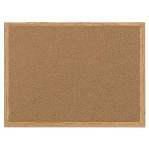 BI-SILQUE VISUAL COMMUNICATION PRODUCTS INC Value Cork Bulletin Board with Oak Frame, 24 x 36, Natural