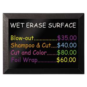 BI-SILQUE VISUAL COMMUNICATION PRODUCTS INC Kamashi Wet-Erase Board, 48 x 36, Black Frame