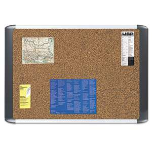 BI-SILQUE VISUAL COMMUNICATION PRODUCTS INC Tech Cork Board, 24x36, Silver/Black Frame